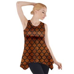 SCA1 BK MARBLE BURL (R) Side Drop Tank Tunic
