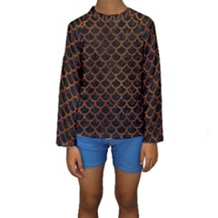SCA1 BK MARBLE BURL Kid s Long Sleeve Swimwear