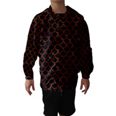 SCA1 BK MARBLE BURL Hooded Wind Breaker (Kids)