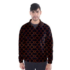SCA1 BK MARBLE BURL Wind Breaker (Men)