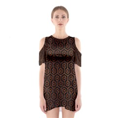 HXG1 BK MARBLE BURL Cutout Shoulder Dress