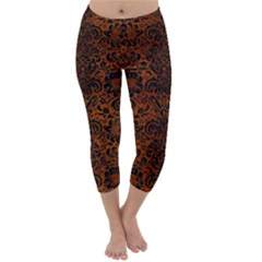 DMS2 BK MARBLE BURL (R) Capri Winter Leggings