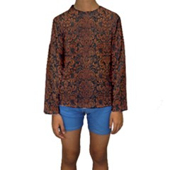 DMS2 BK MARBLE BURL Kid s Long Sleeve Swimwear