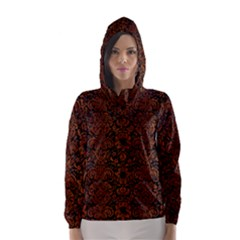 DMS2 BK MARBLE BURL Hooded Wind Breaker (Women)