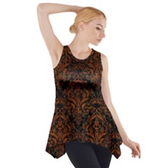 DMS1 BK MARBLE BURL Side Drop Tank Tunic