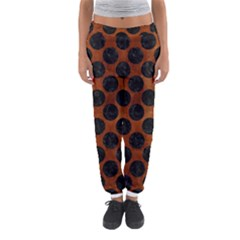 Circles2 Black Marble & Brown Burl Wood (r) Women s Jogger Sweatpants