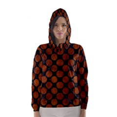 CIR2 BK MARBLE BURL Hooded Wind Breaker (Women)