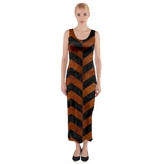 CHV2 BK MARBLE BURL Fitted Maxi Dress