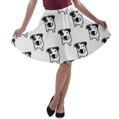 Pit Bull T-Bone Graphic A-line Skater Skirt