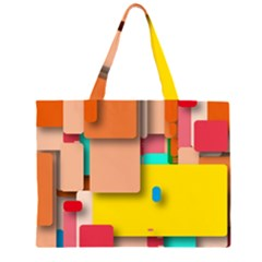 Rounded Rectangles Large Tote Bag