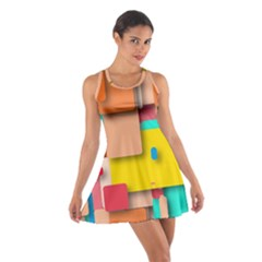 Rounded Rectangles Racerback Dresses