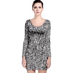 Modern Design 2 Long Sleeve Velvet Bodycon Dress