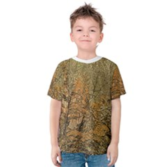 Floral Print Grunge Collage Kid s Cotton Tee