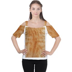 Orange Fur 2 Women s Cutout Shoulder Tee