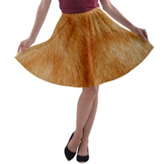 Orange Fur 2 A Line Skater Skirt