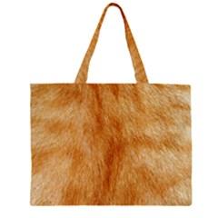 Orange Fur 2 Large Tote Bag