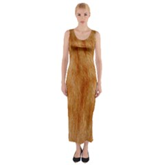 Orange Fur 2 Fitted Maxi Dress