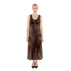 Silber Tiger Fur Full Print Maxi Dress