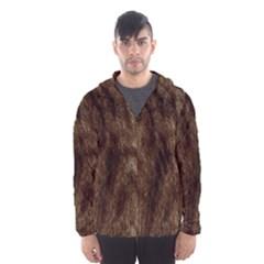 Silber Tiger Fur Hooded Wind Breaker (men)