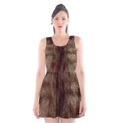 Silber Tiger Fur Scoop Neck Skater Dress