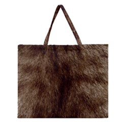 Silber Tiger Fur Zipper Large Tote Bag