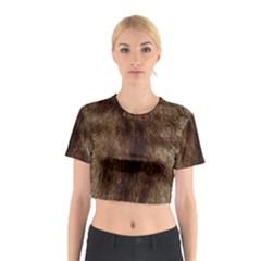 Silber Tiger Fur Cotton Crop Top