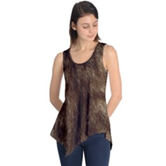 Silber Tiger Fur Sleeveless Tunic