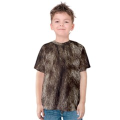 Black And White Silver Tiger Fur Kid s Cotton Tee