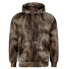 Black And White Silver Tiger Fur Men s Pullover Hoodie