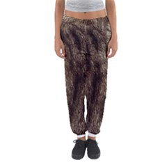Black and White Silver Tiger Fur Women s Jogger Sweatpants