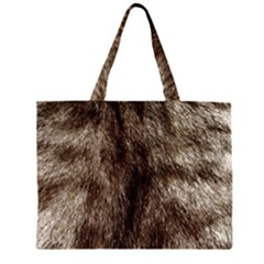 Black and White Silver Tiger Fur Large Tote Bag