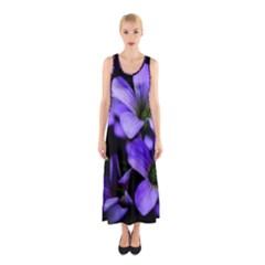 Springtime Flower Design Full Print Maxi Dress