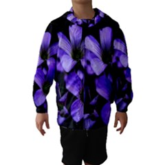 Springtime Flower Design Hooded Wind Breaker (Kids)