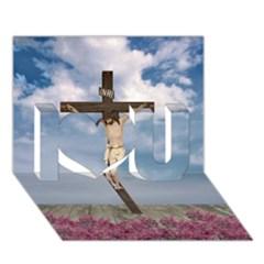 Jesus On The Cross Illustration I Love You 3d Greeting Card (7x5)