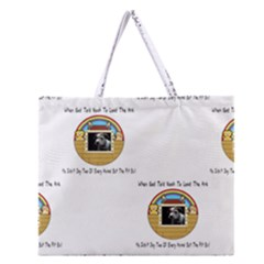 But The Pit Bull Zipper Large Tote Bag