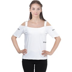 Lit0211002022 Women s Cutout Shoulder Tee