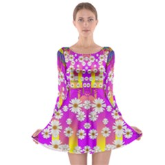 Over And Under The Rainbow Is Love Long Sleeve Skater Dress