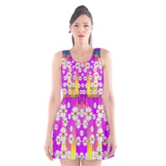 Over and under the rainbow is love Scoop Neck Skater Dress