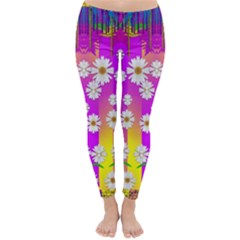 Over and under the rainbow is love Winter Leggings