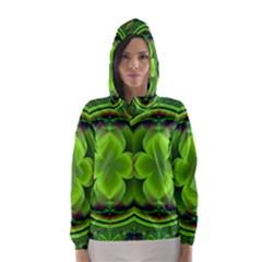 Green Clover Hooded Wind Breaker (Women)