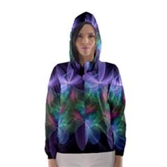 Ethereal Flowers Hooded Wind Breaker (Women)