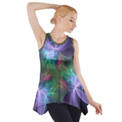 Ethereal Flowers Side Drop Tank Tunic
