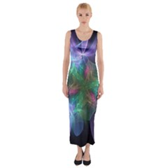 Ethereal Flowers Fitted Maxi Dress