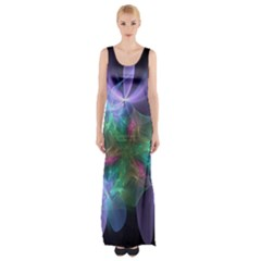 Ethereal Flowers Maxi Thigh Split Dress