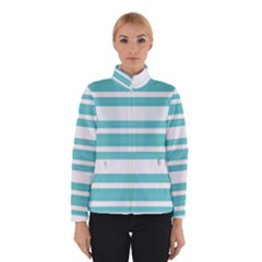 Teal adn White Stripe Designs Winterwear