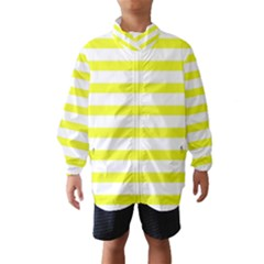 Bright Yellow And White Stripes Wind Breaker (kids)