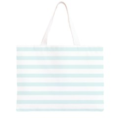 Baby Blue and White Stripes Large Tote Bag