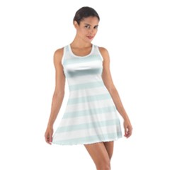 Baby Blue and White Stripes Racerback Dresses