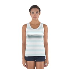 Baby Blue and White Stripes Tops