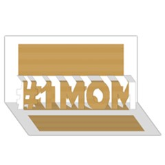 Beige/ Brown And White Stripes Design #1 Mom 3d Greeting Cards (8x4)